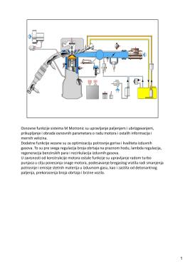 Osnovne funkcije sistema M Motronic su upravljanje paljenjem i