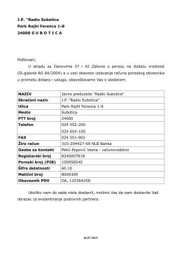 Podaci o preduzeću [pdf]