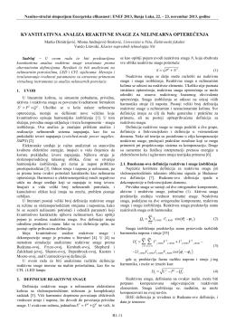 Kvantitativna analiza reaktivne snage za nelinearna