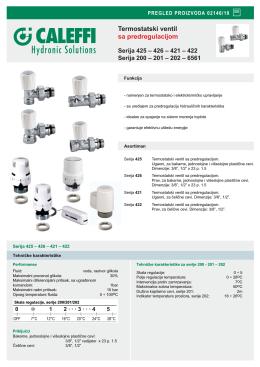 CALEFFI termostatski ventil sa predregulacijom
