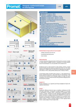 Oblaganje ventilacionih kanala od čeličnog lima L 90 471