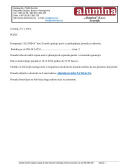 Professional Fax - Kompanija Alumina doo Zvornik, Republika
