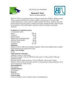 Betasol-C Oral uputstvo