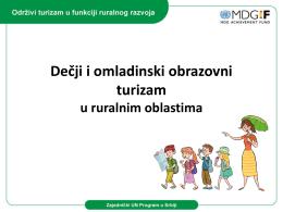 Dečji i omladinski obrazovni turizam u ruralnim oblastima