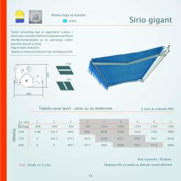 cenovnik tenda sirio gigant