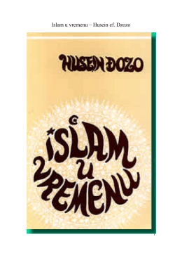 Islam u vremenu – Husein ef. Dzozo