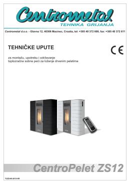 Tehničko uputstvo - CENTROPELET ZS12 - Eco