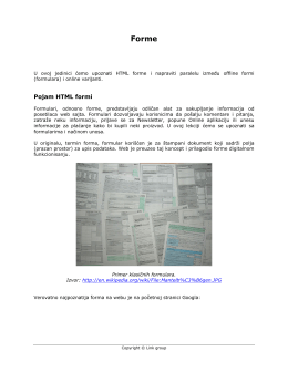 Pojam HTML formi