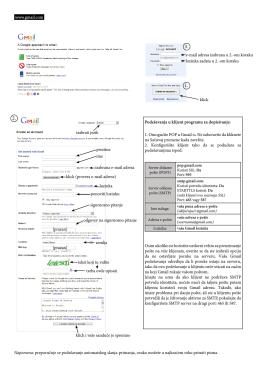 Ovde možete naći uputstvo za kreiranje Gmail e-mail