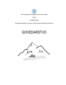 govedarstvo - Development Assistance to Farmers In Remote Areas