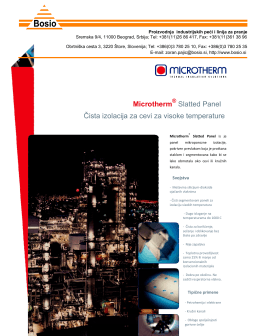 Microtherm izolacija za cevi za visoke temperature