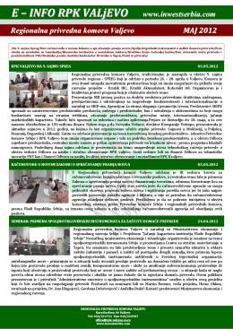 E-Info Word - Regionalna privredna komora Valjevo