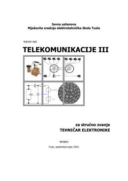 TELEKOMUNIKACIJE III - Mješovita srednja tehnička škola Travnik