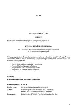 B1 00 STUDIJSKI KOMITET – B1 KABLOVI