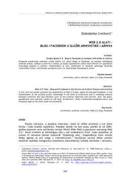 Slobodanka Cvetković WEB 2.0 ALATI