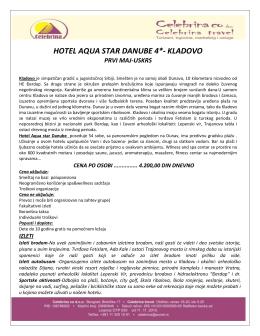 HOTEL AQUA STAR DANUBE 4*- KLADOVO