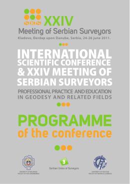 program Konferencije - Sabor geodeta Srbije