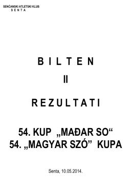 """54. """"magyar szó"""" kupa"""