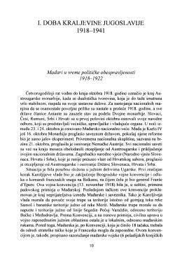 I. DOBA KRALJEVINE JUGOSLAVIJE 1918-1941