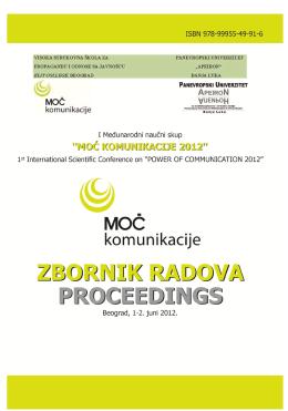 zbornik radova proceedings - POWERCOMM 2014 ZAKLJUČCI I