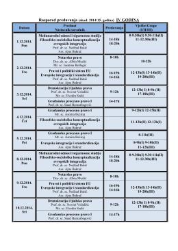 I/II/III - Pravni fakultet