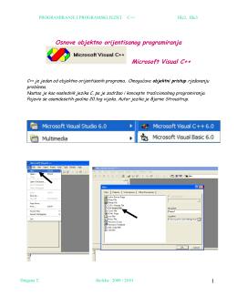 Osnove objektno orijentisanog programiranja Microsoft