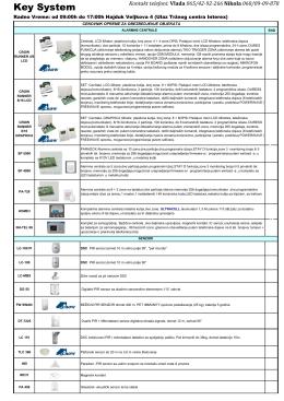 Oprema za obezbeđenje objekata (PDF Katalog)