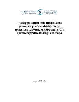 Predlog potencijalnih modela šeme pomoći u procesu digitalizacije