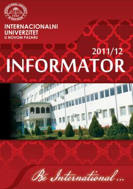 internacionalni - univerzitet u novom pazaru