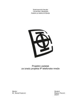 Projektni zadatak za izradu projekta IP telefonske