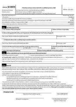 Potvrda o statusu stranca za odbitak poreza u SAD 57,23 kB