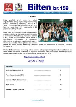 Avgust - Omladinska mreza BiH