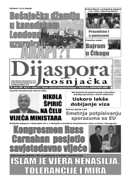 Dijaspora Jan 2007 - Bosnian Media Group