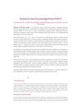 Kompanije LG i Swarovski predstavljaju Premium