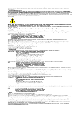 uputstvo za montažu u vezi ugradnje i izgradnje kočionih obloga