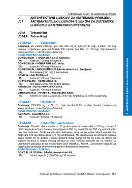 j antiinfektivni lijekovi za sistemsku primjenu j01