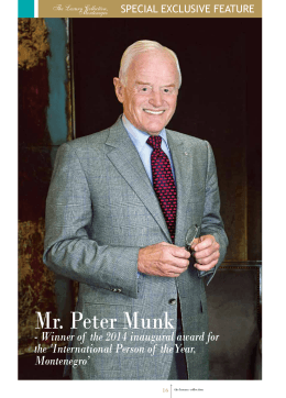 Mr. Peter Munk - Porto Montenegro