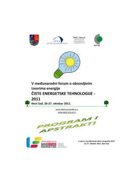 ČISTE ENERGETSKE TEHNOLOGIJE - 2011
