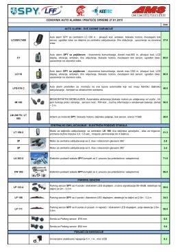 cenovnik auto alarma i prateće opreme 27.01.2015
