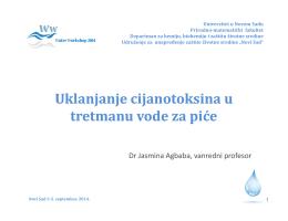 Uklanjanje cijanotoksina u tretmanu vode za piće