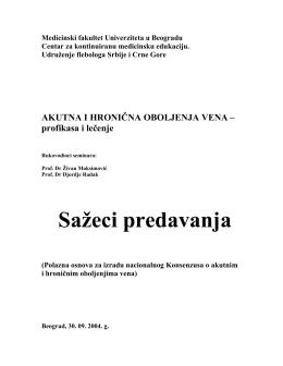 Apstrakti KME 2004 - Udruženje flebologa Srbije