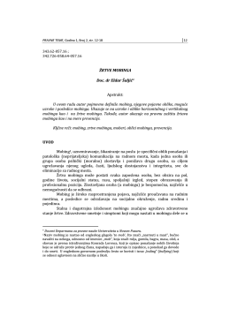 ŽRTVE MOBINGA Doc. dr Eldar Šaljić