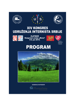 Program kongresa - Udruženje Internista Srbije