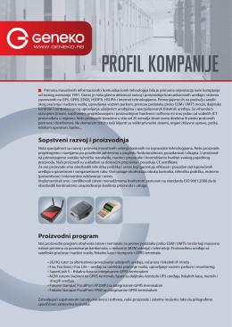 Geneko Profil kompanije, PDF 390KB