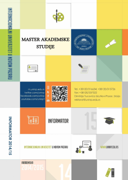 Master studije - Univerzitet u Novom Pazaru