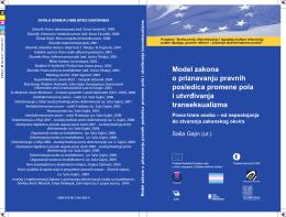 Model zakona o priznavanju pravnih posledica promene
