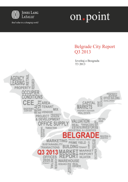 Belgrade City Report