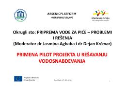 Primena pilot projekata u rešavanju vodosnabdevanja