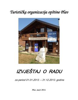 IZVJEŠTAJ O RADU - Turistička organizacija Plav