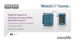 Digitalni aparat za merenje krvnog pritiska Watch BP home A za